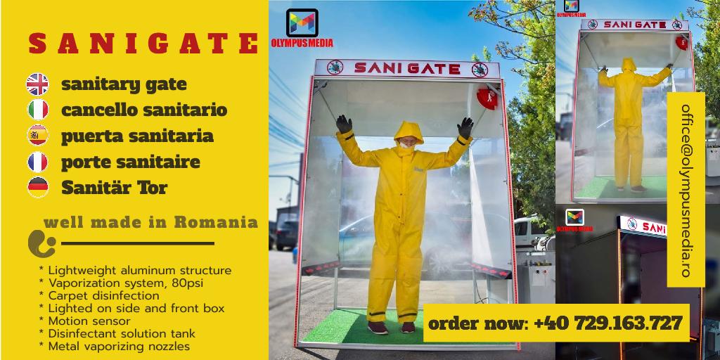 Sanigate - Tunel dezinfectare Covid 19